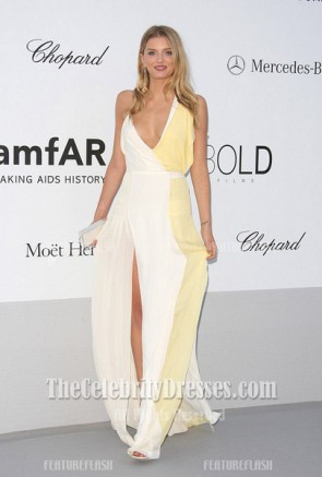 Lily Donaldson Sexy Long Prom Dress Amfar gala 2012 Cannes Celebrity Dresses