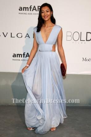 Liu Wen Sexy Backless Evening Gown amfAR's 21st Cinema Against AIDS Gala TCD6885