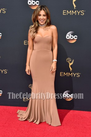 Liz Hernandez Strapless Mermaid Red Carpet Evening Dress 68th Annual Primetime Emmy Awards 1
