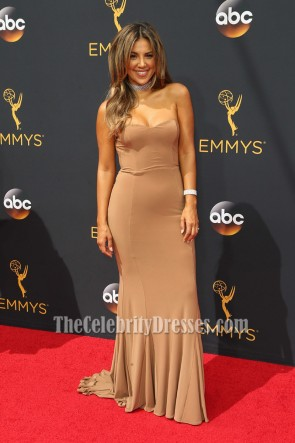 Liz Hernandez Strapless Mermaid Red Carpet Evening Dress 68th Annual Primetime Emmy Awards TCD6850
