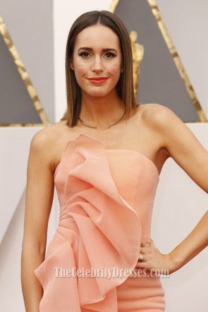 Louise Roe 2016 88th Annual Academy Awards Strapless Evening Prom Gown TCD6700