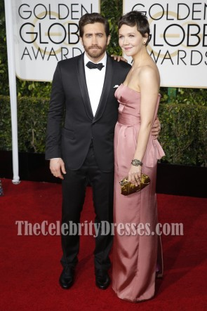 Maggie Gyllenhaal Strapless Prom Evening Dress Golden Globes Red Carpet 2015 TCD7007