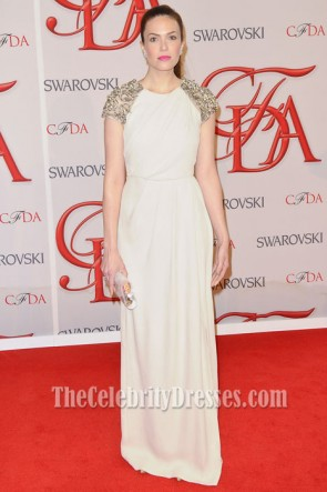 Mandy Moore Ivory Prom Dress 2012 CFDA Fashion Awards Red Carpet