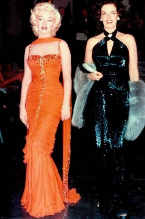 Marilyn Monroe Orange Formal Dress In Gentlemen Prefer Blondes