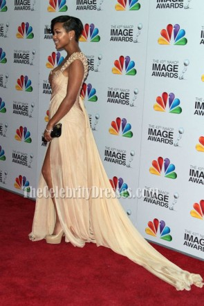 Meagan Good Evening Dress 43rd Annual NAACP Image Awards