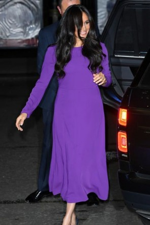 Meghan Markle Purple Dress One Young World Summit 2019