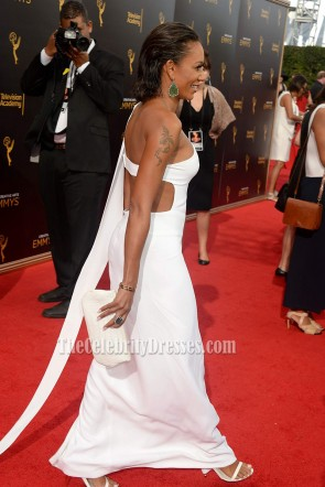 Melanie Brown Sexy White Cutout One-shoulder Evening Prom Gown 2016 Creative Arts Emmy Awards TCD6821