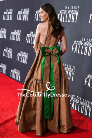 Michelle Monaghan Halter Backless Evening Dress US Premiere Of Mission Impossible — Fallout