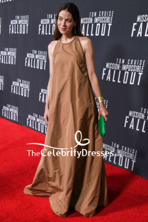 Michelle Monaghan Halter Backless Evening Dress US Premiere Of Mission Impossible — Fallout TCD7949