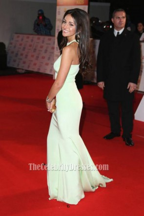 Michelle Keegan Sage Formal Dress National Television Awards 2014