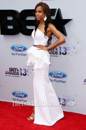 Michelle Williams White Formal Dress BET Awards 2013 Red Carpet