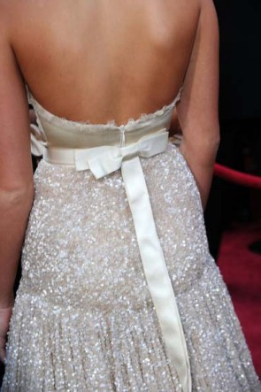 Miley Cyrus Champagne Formal Dress 82nd Oscar Awards Red Carpet Gown