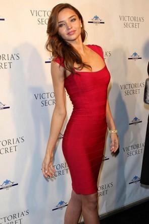 Miranda Kerr Red Bandage Dress Short Cocktail Party Celebrity Dresses