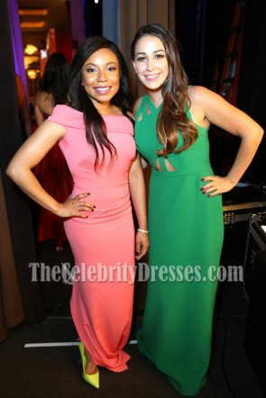 Monica Ten-Kate Green Cutout Evening Dress 41st Annual Gracie Awards TCD7023
