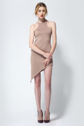 Asymmetric Sleeveless Party Homecoming Dress TCDMU0007