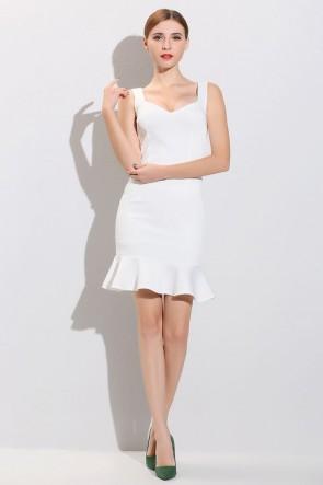 Short Mini White Party Dresses TCDMU0045