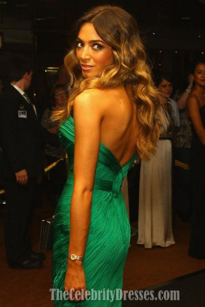 Nadia Coppolino Mermaid Green Evening Dress Brownlow Medal Awards 2011