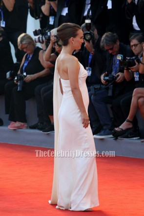 Natalie Portman Ivory One Shoulder Formal Prom Dress 73rd Venice Film Festival TCD6780