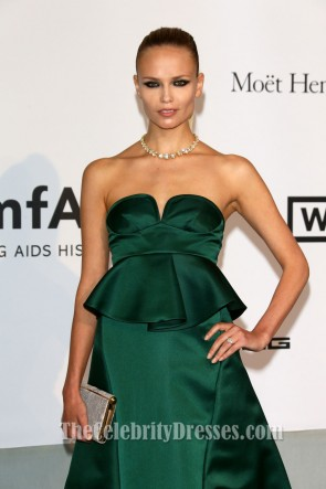 Natasha Poly Dark Green Formal Dress amfAR Cinema Against Aids Gala