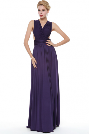 New Fashion Floor Length Chiffon Evening Prom Gowns