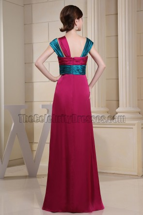 Celebrity Inspired Floor Length Prom Dress Evening Gown