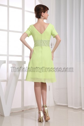 Kelly V-Neck Beaded Cocktail Dress Party Dresses