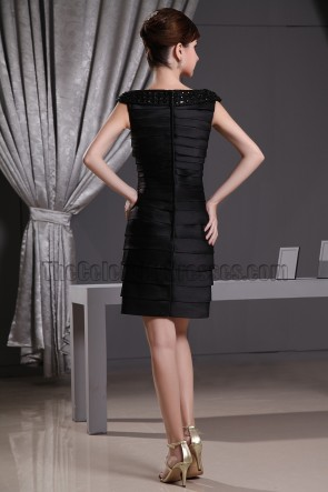 Little Black Dress Short Cocktail Party Dresses With Beading