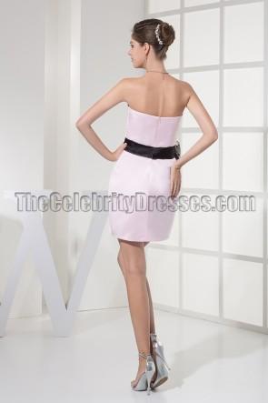 Pearl Pink Short Party Cocktail Graduation Dresses