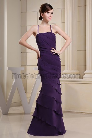 Simple Purple Mermaid Prom Gown Evening Formal Dresses