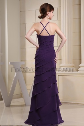 Simple Purple Mermaid Prom Gown Evening Formal Dresses