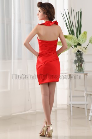 New Style Red Halter Party Homecoming Cocktail Dresses
