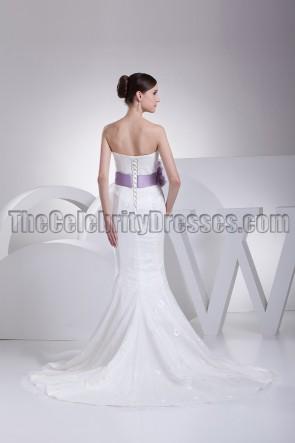 Strapless Mermaid Chapel Train Wedding Dresses
