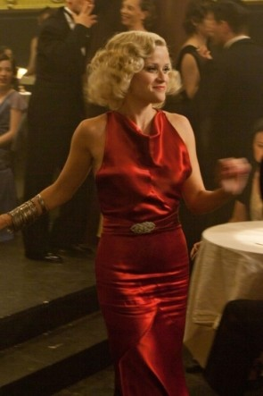 Reese Witherspoon Dark Red Evening Dress In Movie Water For Elephants TCD8801
