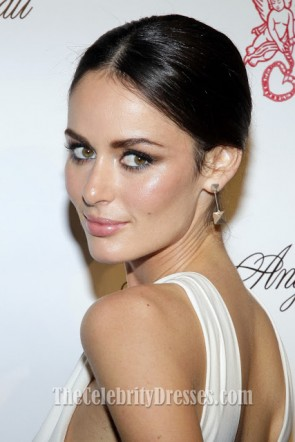 Nicole Trunfio White Prom Dress Angel Ball 2012 Red Carpet Celebrity Dresses