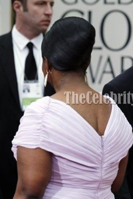 Octavia Spencer Cap Sleeve Plus Size Prom Dress 2012 Golden Globe Awards
