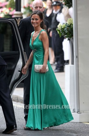 Pippa Middleton Emerald Green Bridesmaid Dress Royal Wedding