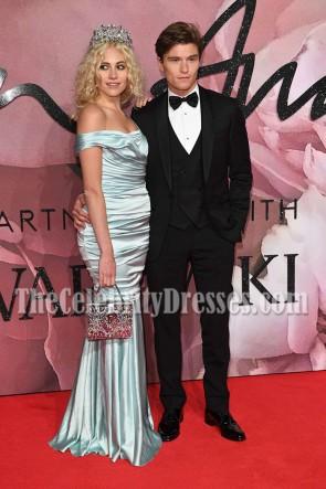 Pixie Lott Sheath Off-the-shoulder Mermaid Evening Prom Gown Fashion Awards 2016 TCD7026