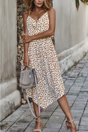 Polka Dot Spaghetti Straps Dress