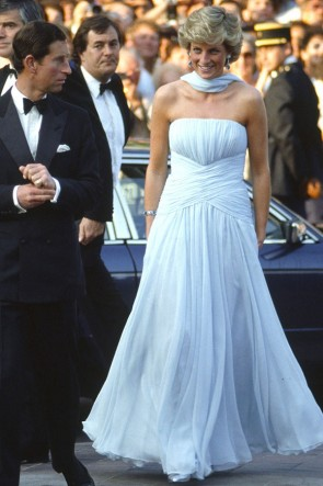 Princess Diana 1987 Cannes Red Carpet Dress
