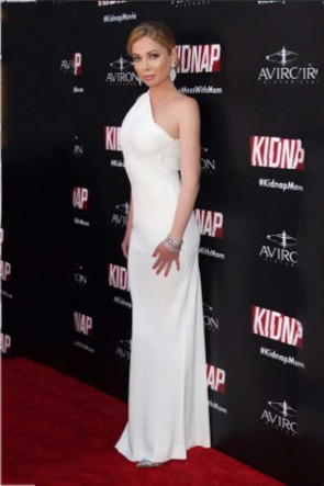 Malea Rose White One Shoulder Column Evening Dress Premiere Of Kidnap TCD7431