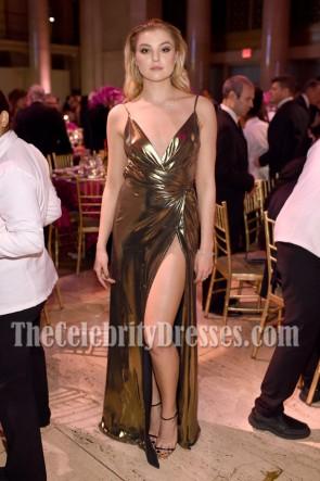 Rachel Hilbert High-slit Spaghetti Straps  Evening Wrap Dress Angel Ball 2016  1