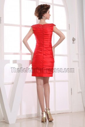 New Style Red Short Cocktail Party Homeocming Dresses