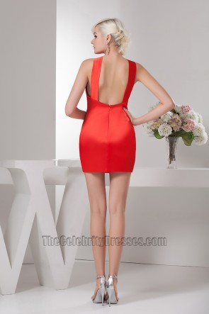 Red Short/Mini Backless Party Homecoming Cocktail Dresses