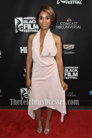 Regina Hall Halter V-neck A-Line High Low Dress American Black Film Festival