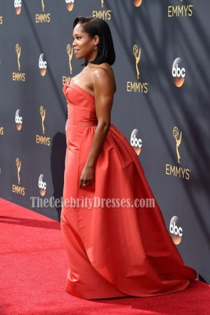Regina King Sexy Strapless Evening Prom Gown 2016 Emmy Awards TCD6805