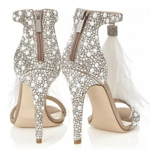Rhinestone Crystal Stiletto Heels Wedding Shoes
