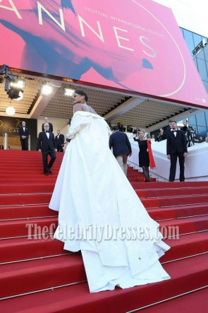 Rihanna 2017 Cannes Film Festival Okja Premiere Ivory Formal Dress TCD7248