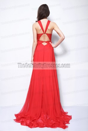 Rihanna Red Dress Grammys 2013 Red Carpet Outfit