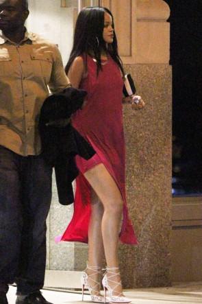Rihanna Sexy Fuchsia Maxi Dresses