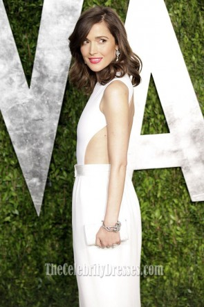 Rose Byrne Backless Evening Dress Vanity Fair 2013 Oscar Party